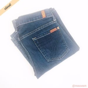 [7FAM] Dark Wash Dojo Wide Leg Jeans 26x32